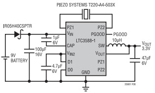 压电式能量收集器