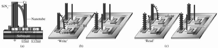 垂直碳纳米管存储器