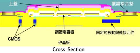 RF MEMS器件的横截面