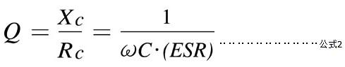 Q值其实就是电阻抗(Reactive Impedance)(Xc)和实际阻抗(Rc)的比值