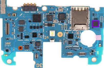 3智能手机中的加速度计和陀螺仪的组合传感器(mpu-6051m)和磁力计(yas