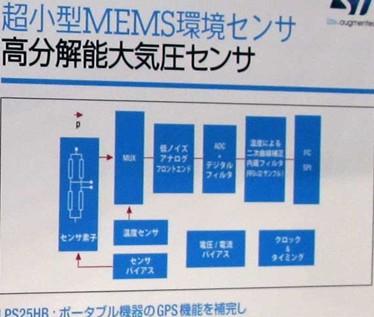 意法半导体的气压传感器展板
