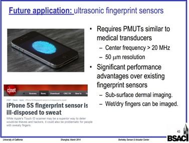 未来应用:超声波指纹传感器