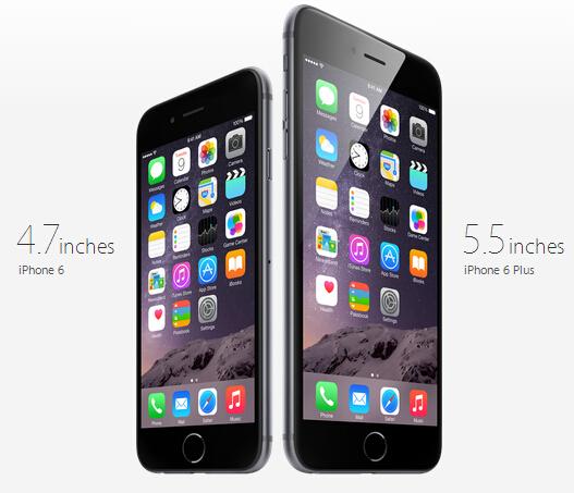 iPhone 6和iPhone 6 Plus
