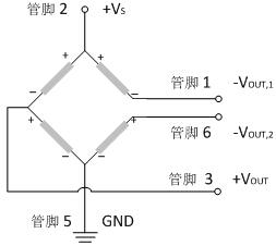 MEMS压力传感芯片模块MSP-AC2原理图