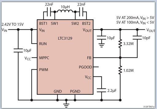 LTC3129 15V/200mA降压-升压型转换器