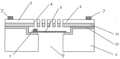 基于硅硅键合工艺的微型麦克风结构示意图