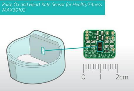 Maxim推出脉搏血氧及心率监测集成传感器模组MAX30102