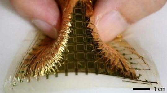 由納米纖維材料打造的超薄柔性壓力傳感器
