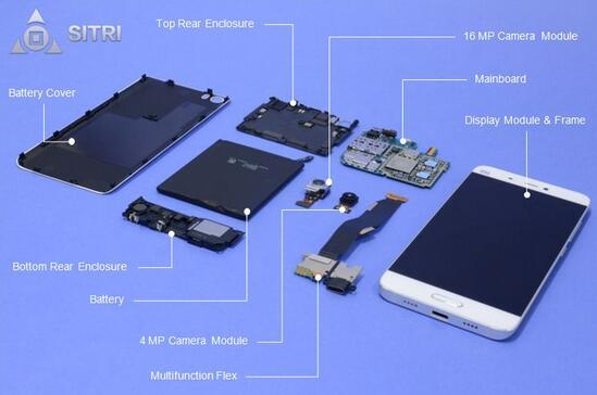 小米5智能手机中的传感器