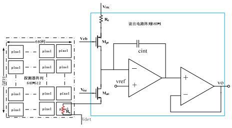 非制冷红外焦平面的读出电路原理图