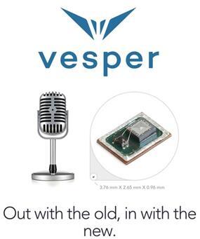 MEMS麦克风新浪潮——Vesper压电MEMS麦克风