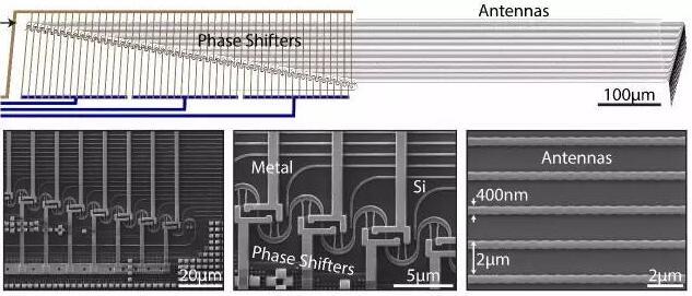 一幅MIT固态Lidar的扫描电子显微镜图