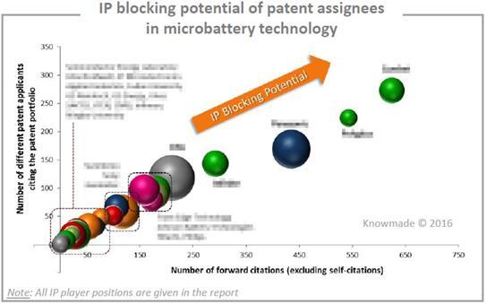 微型电池技术领域重点厂商潜在的专利壁垒