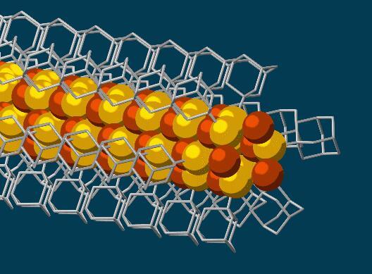 分子建构单元连接生长的纳米线尖端