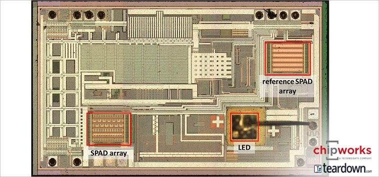 意法半导体的三合一智能光学模块VL6180,整合了近接传感器、环境光传感器以及垂直共振腔面射型雷射(VCSEL)光源