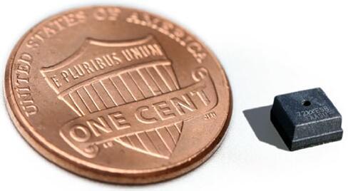 ams推出的傳感器芯片尺寸比美國一便士還小