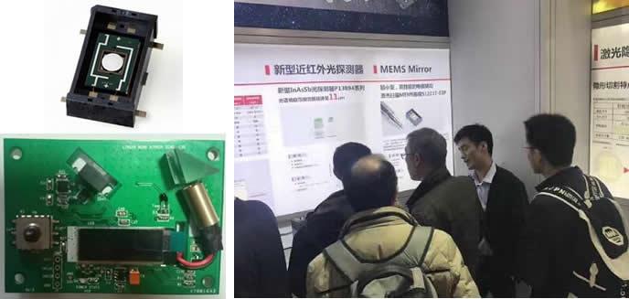 滨松的MEMS微镜及线性激光扫描评估板