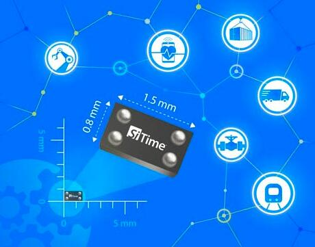 SiTime为工业物联网推出全球最小、功耗最低的精准MEMS参考时钟