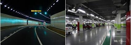 隧道中地下停车库