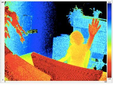 epc660 3D ToF深度信息效果图