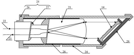 高精度波长形加速度传感器的结构示意图