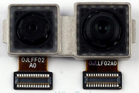 2000万+800万像素前置摄像头模组与后置摄像头模组一样由欧菲光提供,采用大立光学镜头
