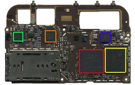 金立S10主板正面芯片