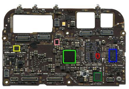 金立S10主板背面主要IC