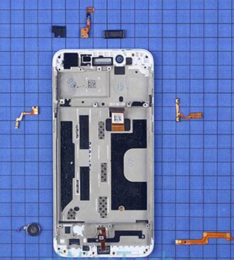 oppo a77智能手机听筒,振动器,按键软板和光感/距离传感器固定在内