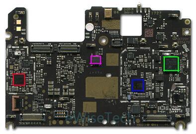 小米5x智能手机主板背面主要芯片