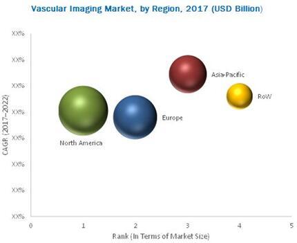 2017年全球血管成像市场按地区细分