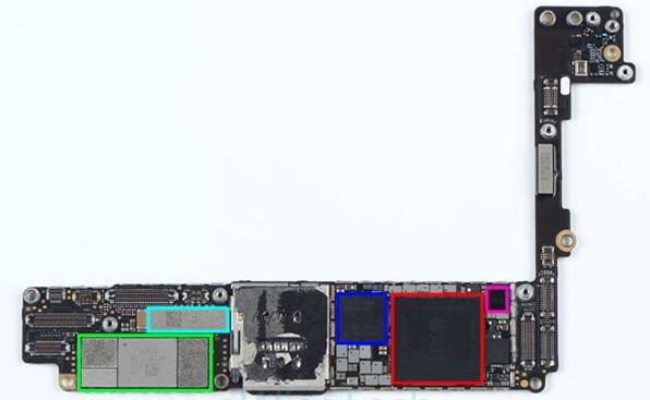 iPhone 8 Plus智能手机主板背面主要IC