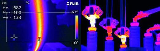 控制自动化焊机中管道的定位高压设备的热检验