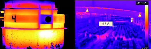钢包上的热点显示可能存在故障持续监测仓库