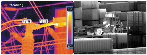 带温度信息的热图像不带温度信息的热图像