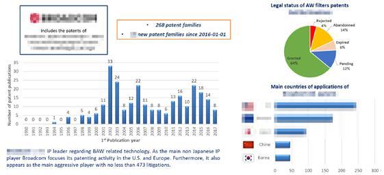 重点厂商的专利现状分析