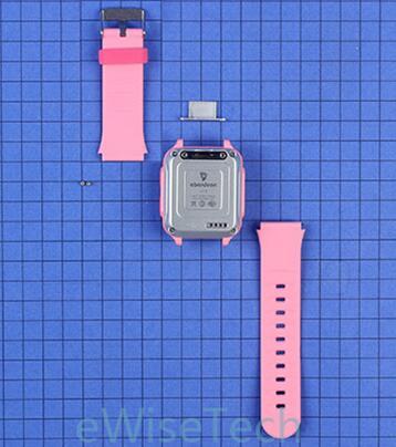 SIM卡槽通过螺丝固定,表带采用可食用硅胶材质