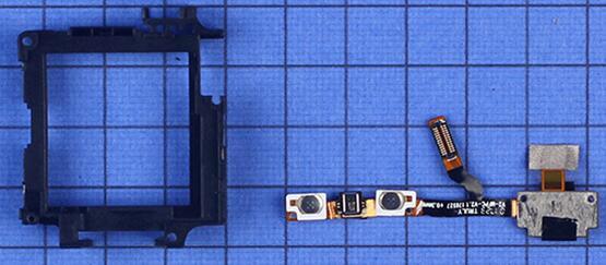 阿巴町V118儿童智能手表集成了按键、麦克风、BTB接口和SIM卡连接器的软板用胶固定在内支撑上