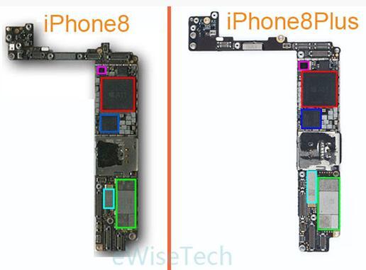 iPhone 8主板正面主要IC