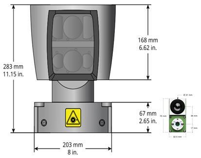 机械式LiDAR(型号:HDL-64E)与混合固态LiDAR(型号:LeddarVu)尺寸对比