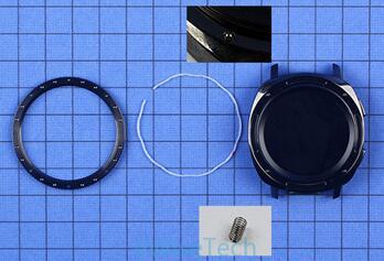 Gear Sport智能运动手表表圈部分采用不锈钢金属活动表圈