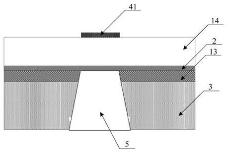 利用薄膜转移技术制备薄膜体声波器件的结构示意图