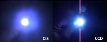 图9 图像瑕疵:CCD弥散