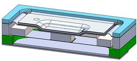 """USound的MEMS扬声器结构:其推动空气发声的""""锥型结构"""",利用角落的薄膜压电驱动器悬置在底部的腔体内,薄膜压电驱动器可以根据音频信号,同步地促动锥形结构运动,从而推动空气发出声音"""