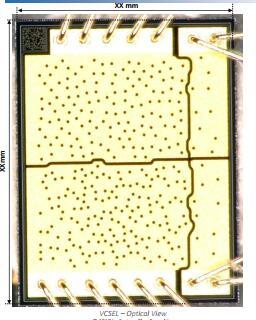 苹果iPhone X红外点阵投影器中的VCSEL芯片