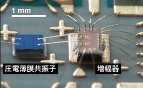 压电薄膜谐振器和放大器通过引线键合方式连接