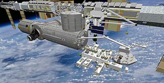 图为空间站生态系统天基热辐射实验(ECOSTRESS)概念图,预计于2019年发射