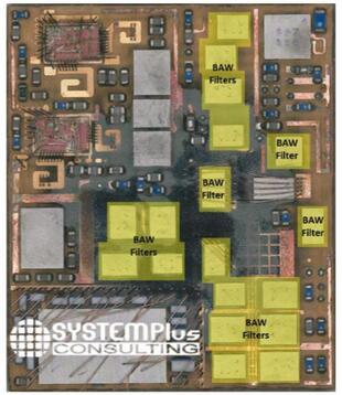 博通(Broadcom)射频前端模组AFEM-8072拆解分析