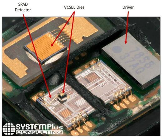iPhone X的ToF测距传感器+红外泛光照明器的拆解分析